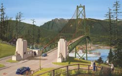 Lions Gate Bridge, 1939 by Brian Croft
