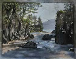 San Josef Beach - Cape Scott by Kirsten Sheffield