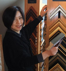 Owner Hong Zhu at Abbotsford Art Gallery